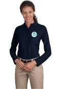 L500LS Ladies Long Sleeve Silk Touch Polo