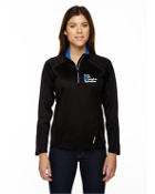 78187 Ladies 1/2 Zip Yoga Shirt